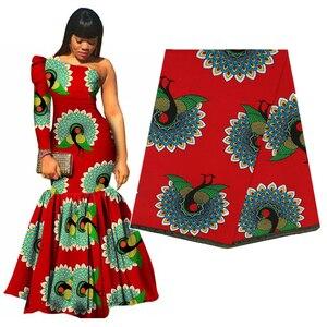 Image 1 - 우수한 아프리카 직물 진짜 왁스 바틱 100% 코 튼 고품질 앙카라 인쇄 Pagne Tissu 드레스 공예에 대 한 바느질 재료
