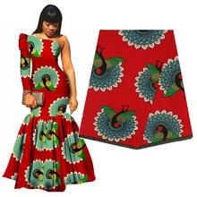 Eccellente Tessuto Africano Reale Cera Batik 100% Cotone di Alta Qualità Ankara Stampa Pagne Tissu Materiale Per Il Vestito Da Cucire Artigianato