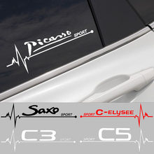 2 шт., виниловые наклейки на окна автомобиля Citroen Picasso Saxo Celysee C3 C4 C5