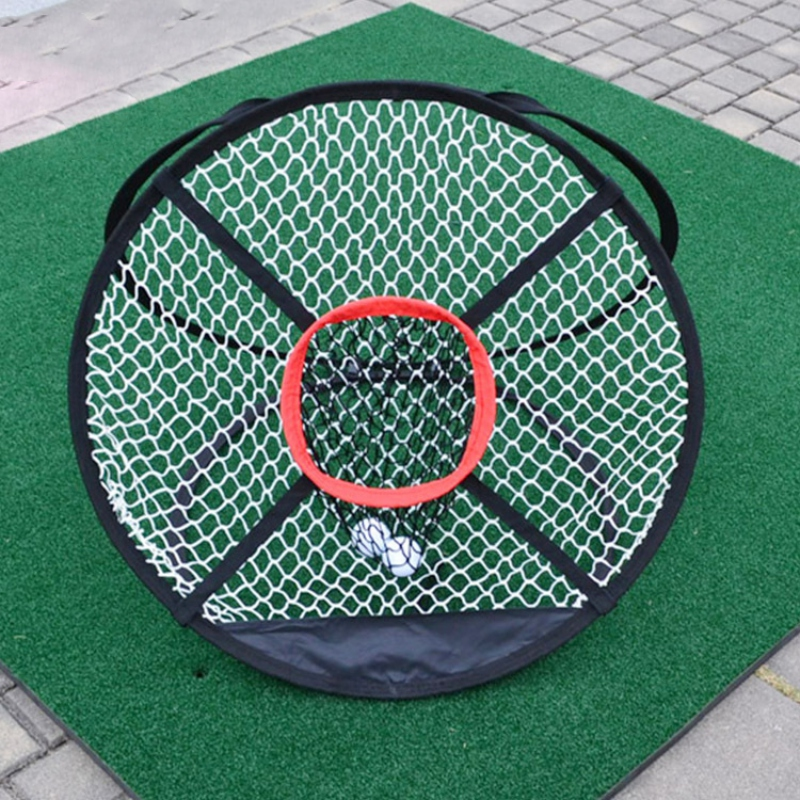 Portable Foldable Golf Chipping Net Golf Outdoor Indoor Pitching Cages Mats  Golfing Target For Practice Golf Training Aids