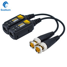 10Pairs 8MP BNC Video Balun Connector Transmission Twisted Pair Transmitter cctv Cable Support HD 8MP AHD/CVI/TVI Camera