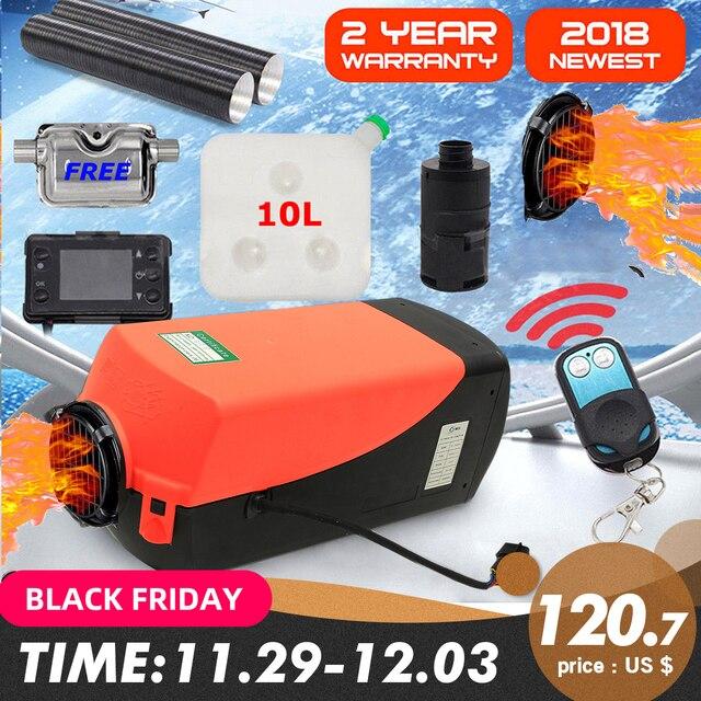 12V 5000W LCD moniteur Air diesels chauffe-carburant simple trou 5KW pour bateaux Bus voiture chauffage avec télécommande et silencieux gratuitement