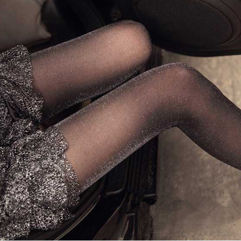 1PC Fashion Women Ladies Sexy Charming Shiny Pantyhose Glitter Stockings Womens Glossy Thin Tights Summer Autumn Hot Sale