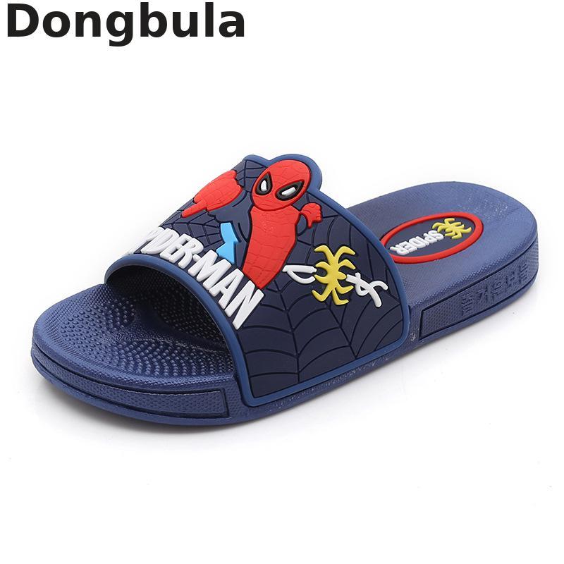 2020 Spiderman Kids Slippers For Baby Boy Girls Pvc Flip Flops Summer Children Beach Sandals Toddler Girl Home Slippers For Kids