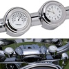 "Universal Waterproof 7/8 ""Motorcycle Handlebar Black/White Dial Clock Thermometer Motorcycles Accessories 1"