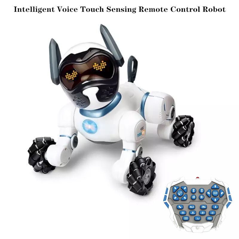 Voice-Controlled Smart Robots Dog Voice Dialogue Children's Educational Toy RC Robot Dog Singing Dancing Robot Toys For Children