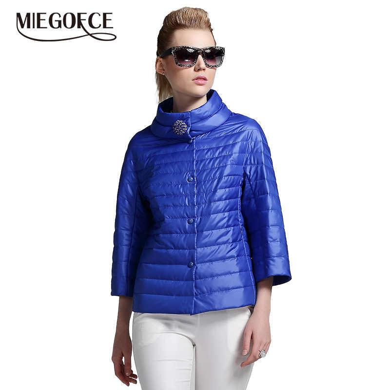 MIEGOFCE 2019 yeni bahar kısa ceket kadın moda ceket yastıklı pamuklu ceket dış giyim yüksek kalite sıcak Parka kadın giyim