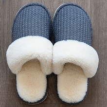 Slippers women Winter Big size 42-43 Warm Short Plush Indoor shoes Light Weight Wear-resistant House slipper for Girls цена 2017
