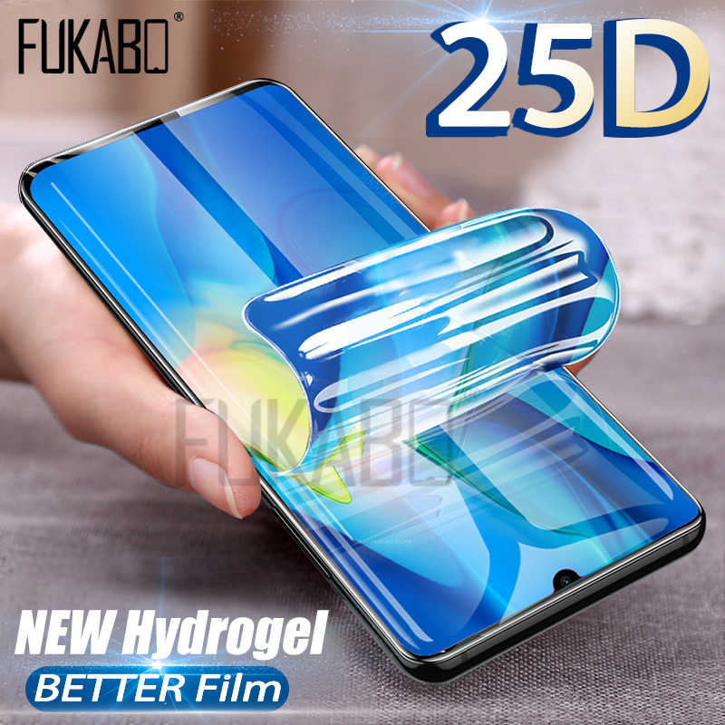 25D HD Screen Protector For Samsung Galaxy A50 A70 S10 S9 S8 Plus Hydrogel Film For Samsung Note 10 Pro 8 9 A80 A90 S7 NOT GLASS