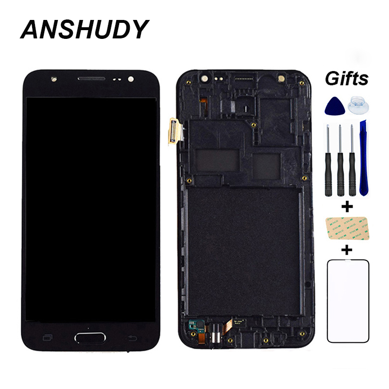 j500 <font><b>lcd</b></font> display For Samsung Galaxy J5 J500 <font><b>J500F</b></font> J500FN J500M J500H 2015 <font><b>LCD</b></font> Display + Touch Screen Sensor Assembly Frame image