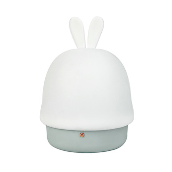Rabbit Night Light LED Lamp USB Silicone Touch Sensor Silicone  Children Kids Baby Sleeping Bedside Lovely Decoration Nightlight night light newest style the totoro usb portable touch sensor led baby nightlight bedside lamp touch sensor night lamp for kids