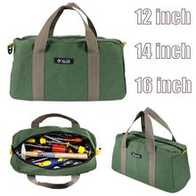 цена на Canvas Storage Tool Bag Multi-function Portable Toolkit Wrenches Screwdrivers Pliers Metal Storage Bags Organizer