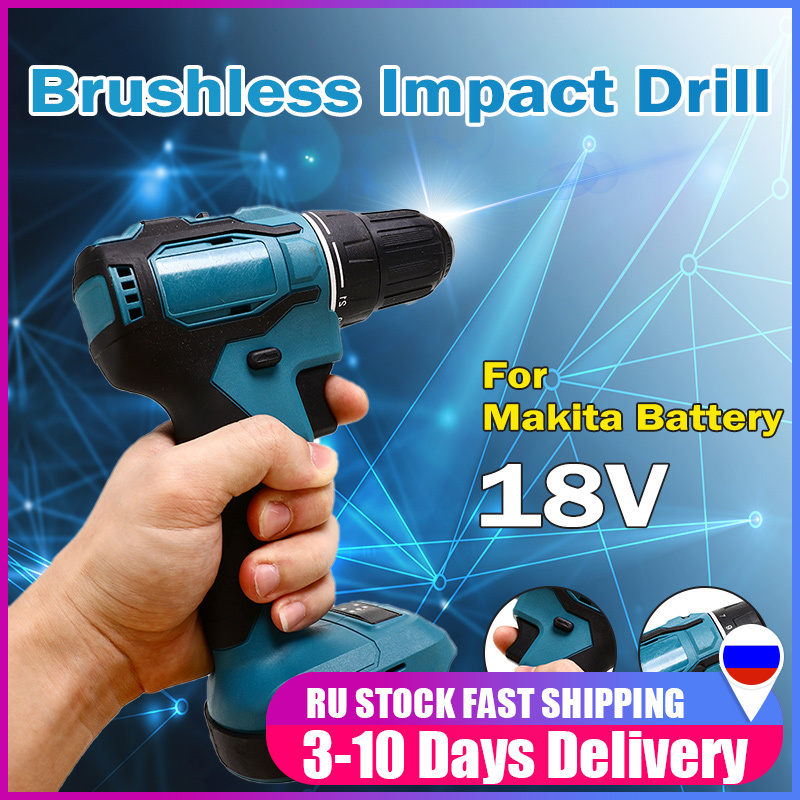 18V 90Nm Electric wrench Cordless Brushless Impact Drill Hammer Drill Screwdriver DIY Power Tool Rechargable For Makita Battery