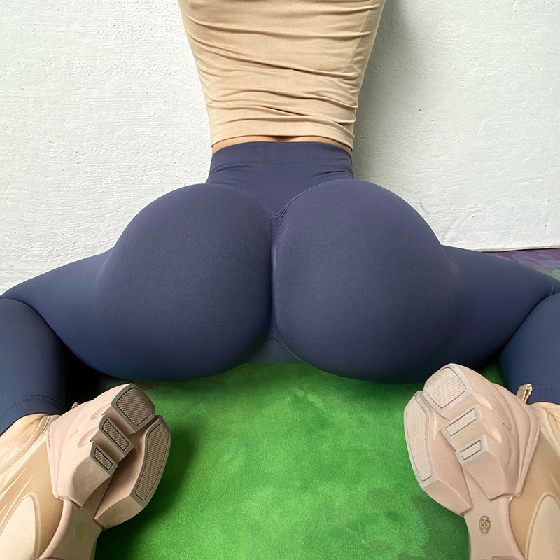 SOISOU New Yoga Pants Women Leggings Tights Solid Color Women's Sports Pants Elastic High Waist Pants For Women Gym Clothing
