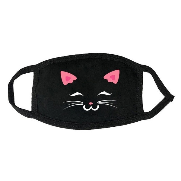 Cute Black Cat Themed Face Masks