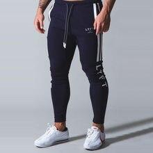 Yeni koşu pantolonları erkek spor Sweatpants koşu pantolon erkekler Joggers pamuk eşofman Slim Fit pantolon vücut geliştirme pantolon 20CK10