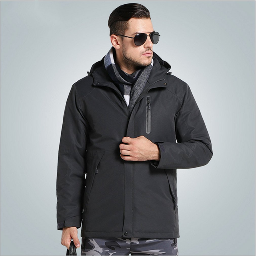 USB Heater Hunting Heated Jacket Heating Winter Clothes Women Men Thermal Outdoor Long Sleeve Coats Hiking Climbing
