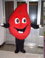 Drop of Blood Mascot Costume Suits Cosplay Party Game Dress Outfits Clothing Advertising Carnival Halloween Xmas Easter Adults