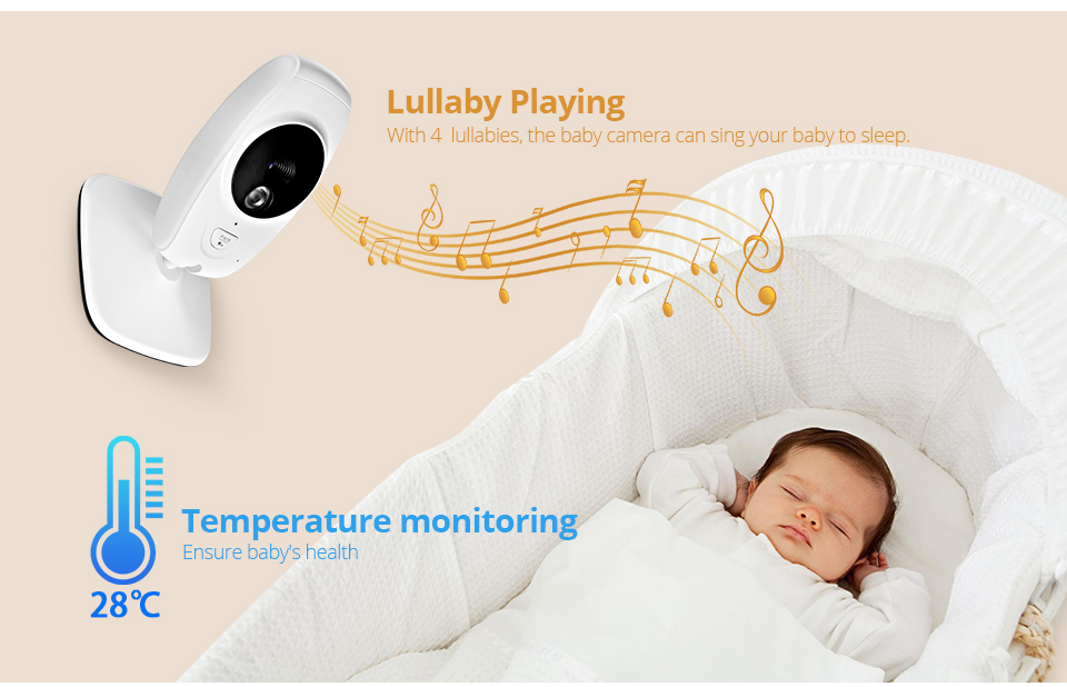 7 Inch Wireless Baby Monitor With 720P HD Screen Camera To Check Your Baby Monitor Screen 15