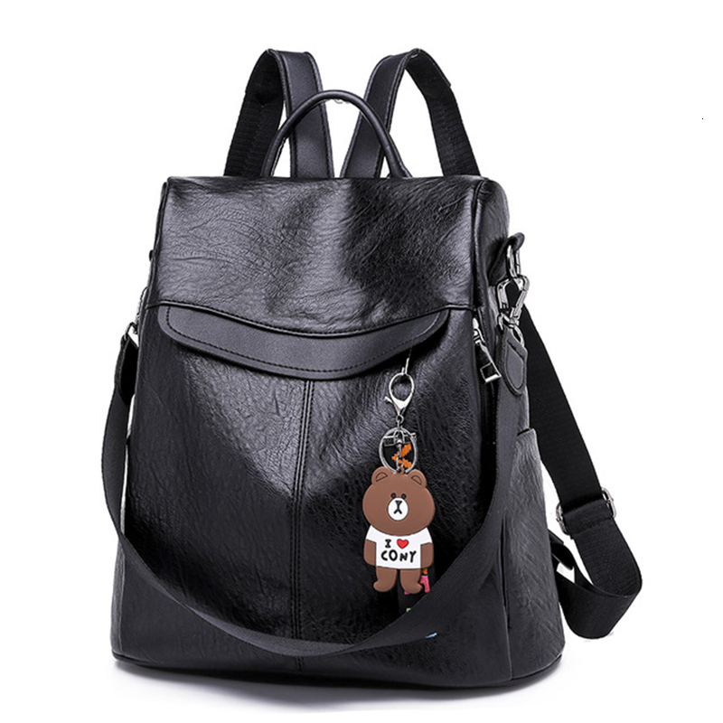 New Anti Theft Backpack Women Bags Multifunction Female Backpack Girls Schoolbag 2019 Travel Backpack Leather Women Sac A Dos