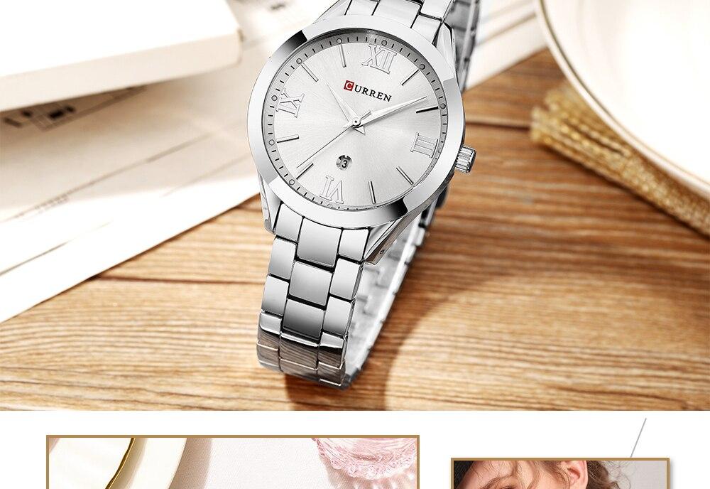 pulseira relógios aço inoxidável relógio de pulso