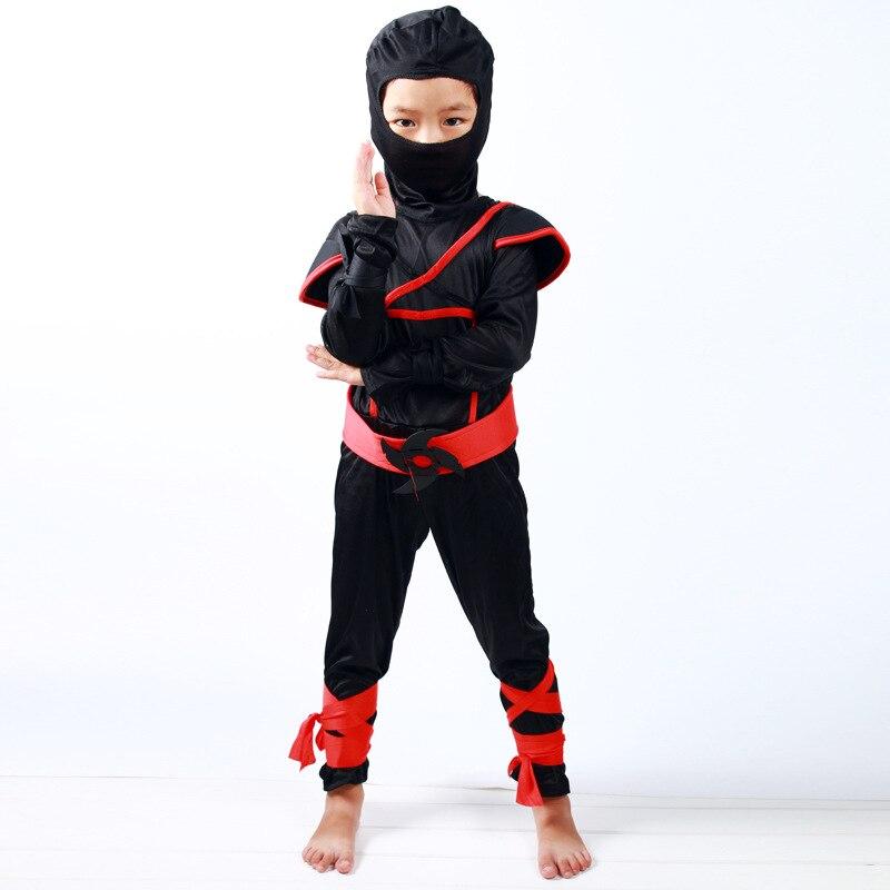 Boys Howling Wolf Ninja Costume Assassin Warrior Child Teen Fancy Dress Outfit