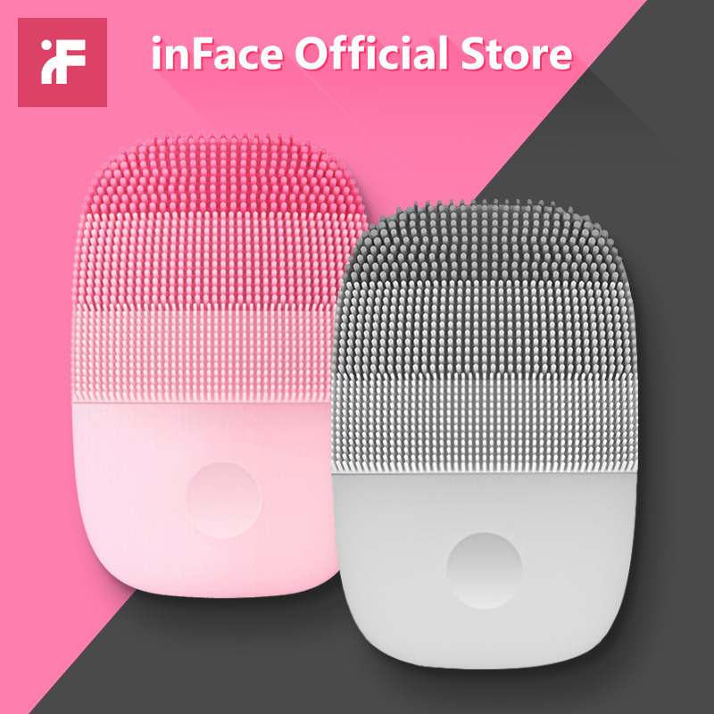 InFace Electric Deep Facial Cleaning Massage Brush Sonic Face Washing IPX7 Waterproof Silicone Face Cleanser for Lover-in Powered Facial Cleansing Devices from Home Appliances