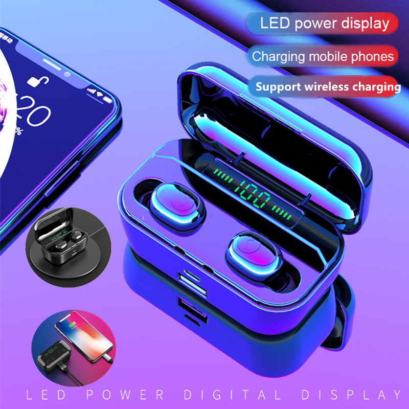 New G6S TWS Bluetooth Earphone 8D Stereo Wireless Earbuds Wireless Earphone Headset with 3500mAh Power Bank Earphone