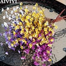 Künstliche blumen silk plum blossom zweige gefälschte blumen fotografie landschaft grüne wand handgemachte DIY hause dekoration
