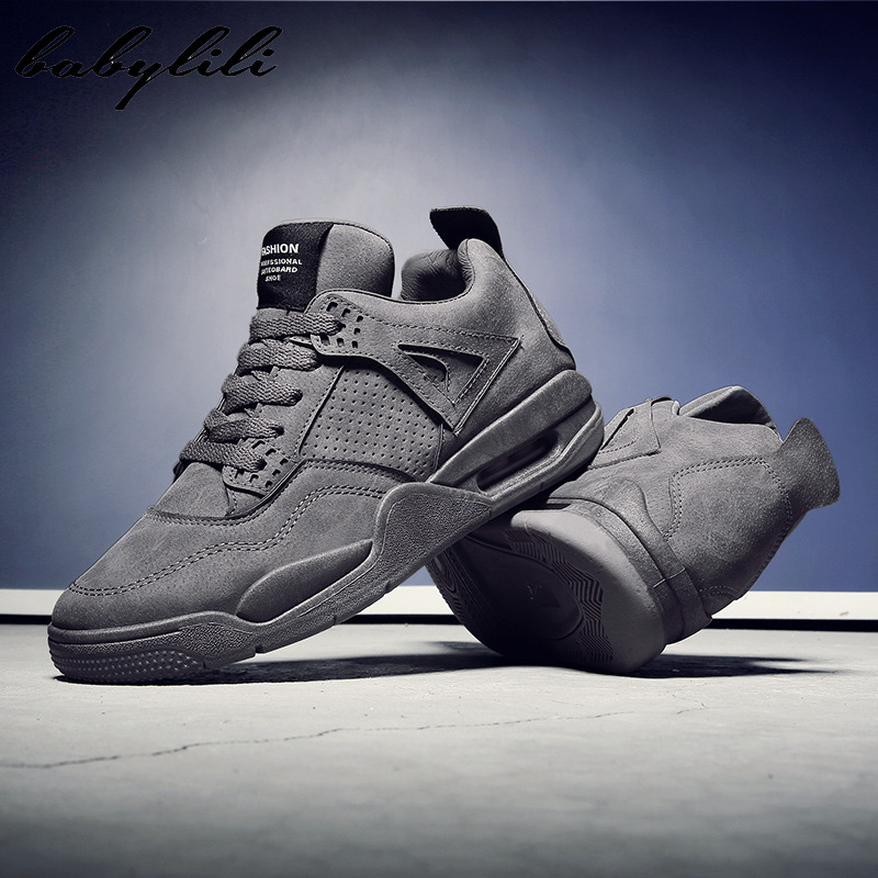 2020 AJ4 Men's Vulcanized Shoes Sneakers Outdoor Sports Air Running Shoes Flat Casual Tennis Shoes Skateboard Medium High JD New