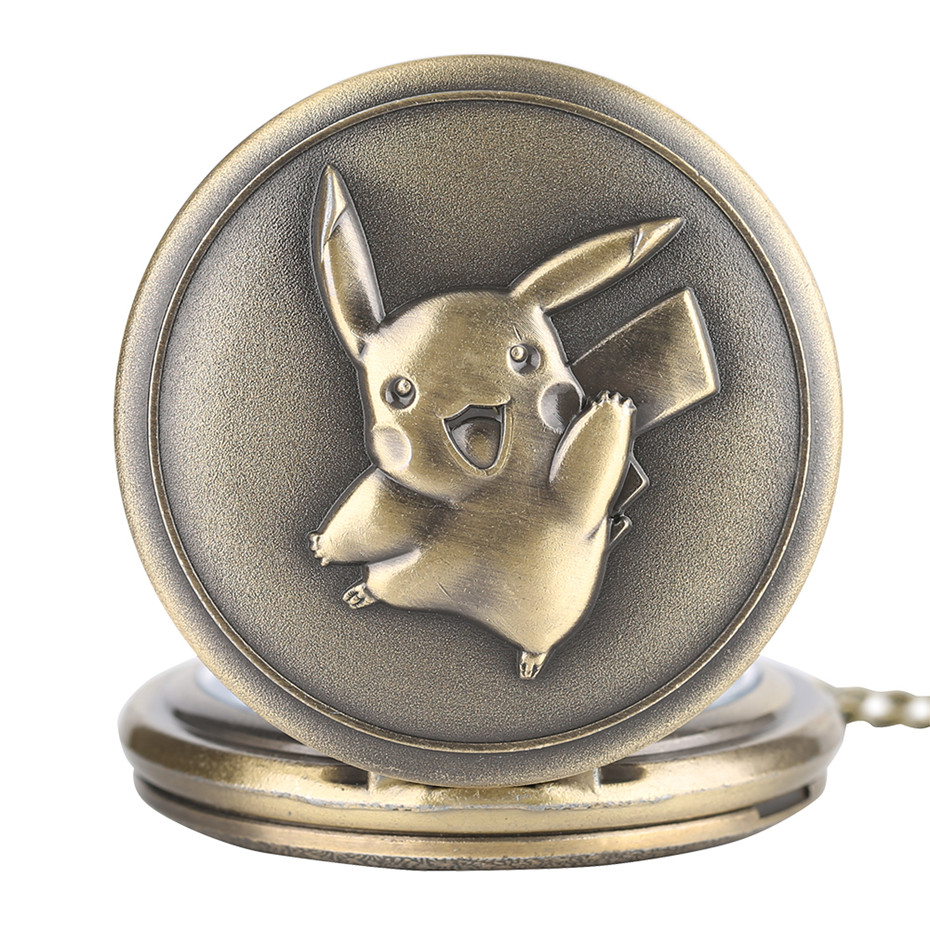 Hot Sale Cartoon Anime Movie Theme Quartz Pocket Watches Retro Necklace Chain Punk Cool Kids Boys Pendant Clock Birthday Gifts