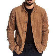 2019 men winter corduroy jacket Fashion brown outerwear coat black slim parka pilot jacket for male casual social jacket coat 9#(China)