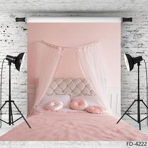 Image 2 - Rideau de lit chambre rose Fond photographique toile de Fond imprimée par ordinateur pour les amoureux saint valentin anniversaire Photocall Fond Photo