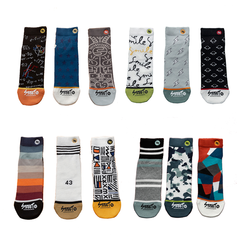 3Pairs/Pack Streetwear Unisex Men Socks 100 Cotton Colorful Happy Personality Socks Men Gift Size 36-44 Van Gogh Dropshipping