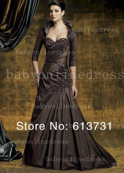 Custom-made A-line Vestido De Madrinha 2016 New Design Sexy Appliques Free Shipping Long Mother Of The Bride Dresses With Jacket