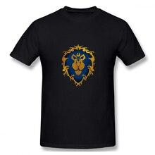 World Of Warcraft Team off white Mens Basic Short Sleeve T-Shirt 100 Percent Cotton Graphic Tshirt