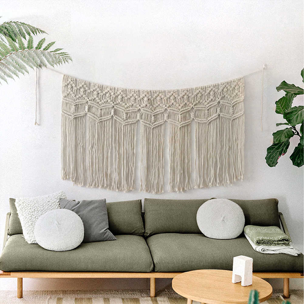Wall Hanging Curtain Fringe Garland Banner Boho Wall Decor Woven Home Christmas Decoration For Apartment Bedroom Living Room Tapestry Aliexpress
