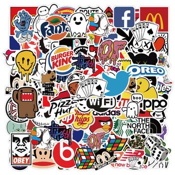 10 50 100 sztuk fajne moda uliczna Logo naklejki Graffiti estetyczne Laptop Skateboard telefon wodoodporny kalkomania Pack zabawka dla dzieci tanie i dobre opinie NoEnName_Null CN (pochodzenie) 7-12m 13-24m 25-36m 4-6y 7-12y 12 + y 4-7CM Toy sticker Graffiti Decal Sticker None Colorful