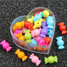 20PCS Candy Modeling Acrylic Beads DIY Multicolor Cute Making Baby Toys Necklace Bracelet Jewelry Wholesale 20x9mm