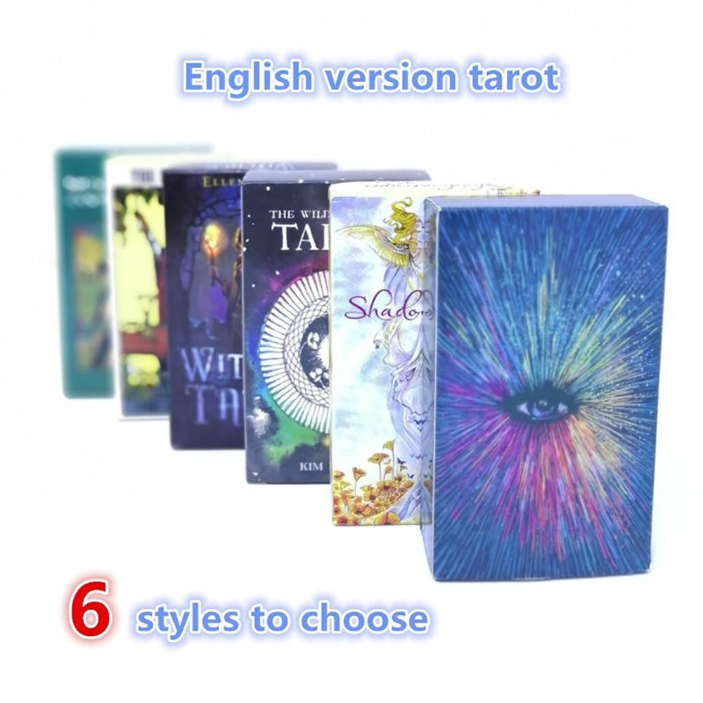 6 types Popular Tarot Shadow Witch Wild Rider Tarot Deck English Version Mysterious Family Party Cards in Board Games from Sports Entertainment