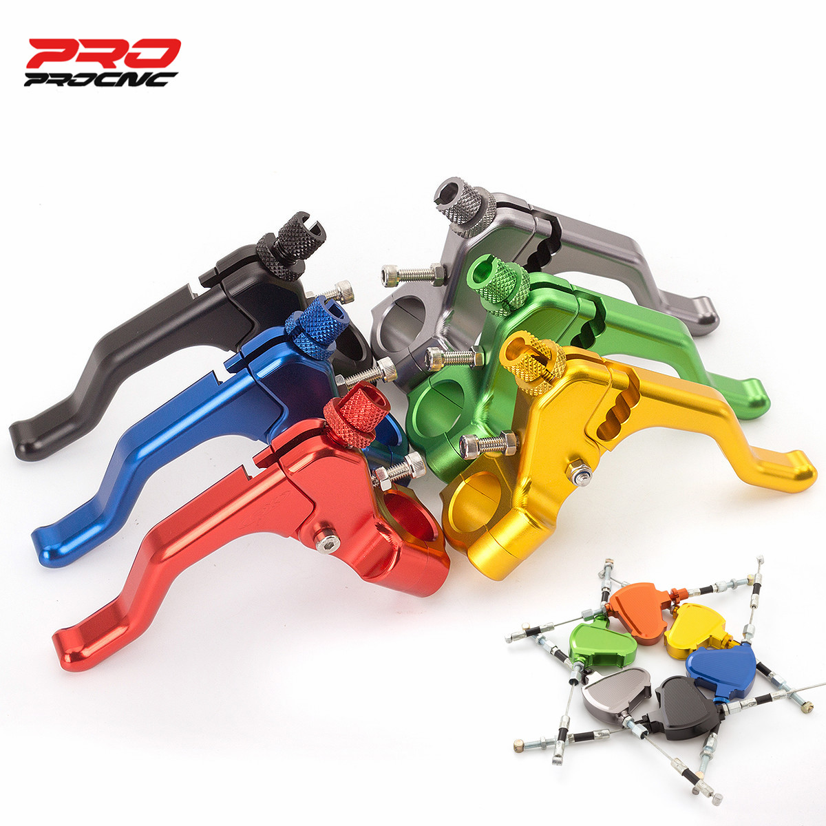 100% Aluminum Motorcycle Stunt Clutch Lever Pull Cable System 7/8