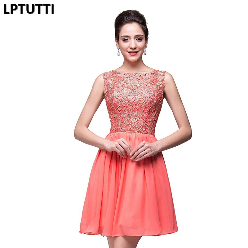 LPTUTTI Embroidered lace New Sexy Woman Social Festive Elegant Formal Prom Party Gowns Fancy Short Luxury   Cocktail     Dresses