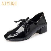 AIYUQI Womens Patent Leather Shoes 2019 New Autumn Big Size 41 42 43 Non-slip Large Fashion