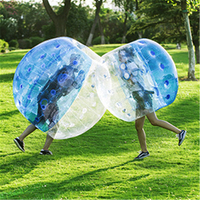 1.2M/1.5m/1.8M Inflatable Air Bubble Body Soccer Football Zorb Ball Air Bumper Fitness Team Sports Game Equipment For Adult Kids