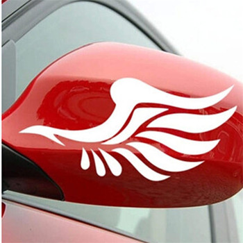 1 Pair Guardian Angel Wings Car Motorcycle Stickers Fashion Car Rearview Mirror for Strip Subsection image