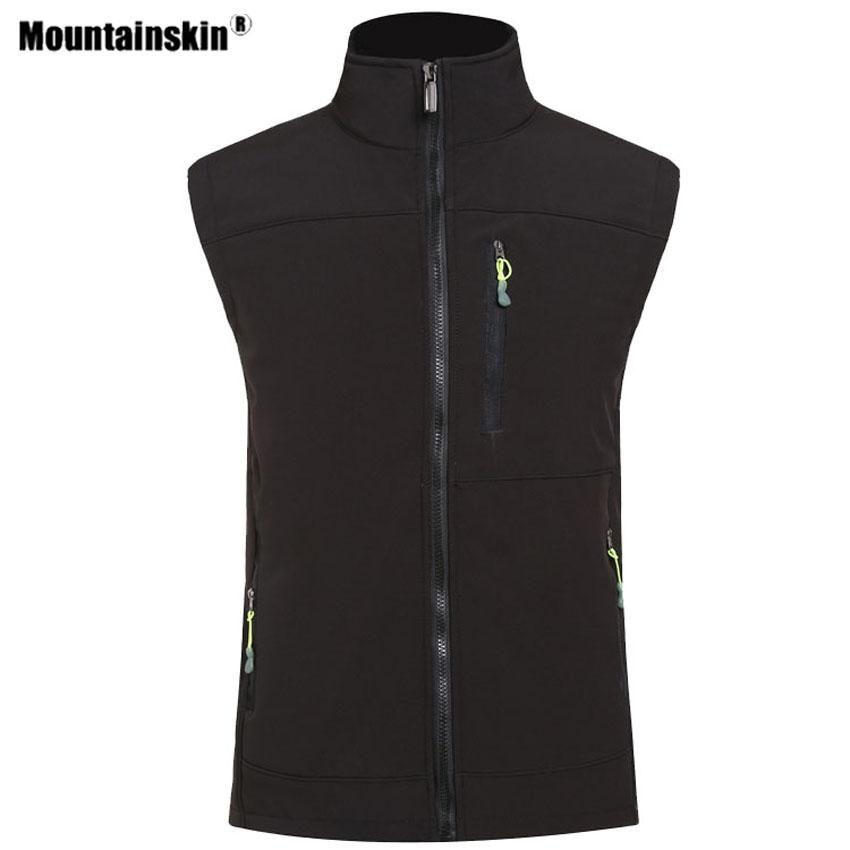 Mountainskin Women Mens Hiking Softshell Vest Outdoor Sport Camping Climbing Trekking Thermal Sleeveless Jackets Male Coat VA660