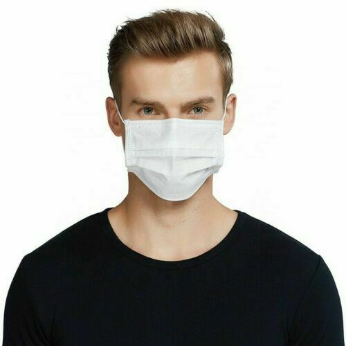 50 PCS Disposable Face Mask Virus Flu Surgical Dental Industrial 3-Ply Ear Loop Disposable Dust Mask 2020