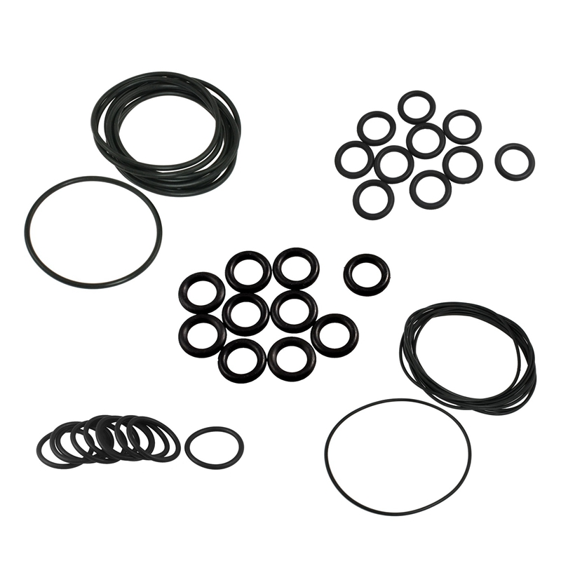 10 Pcs 38mm x 3.5mm x 31mm Flexible Rubber O Ring Gasket Washer Black image