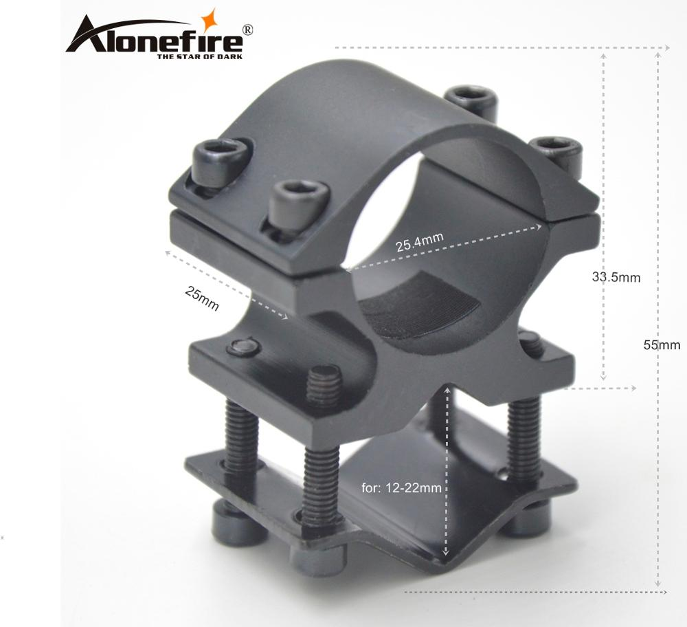 AloneFire K186 Scope Mounts Universal Mount Adapter For Flashlight Laser Torch Sight Scope 1 Inch 1pc