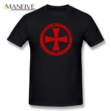 Knights Templar Cross Shield Crest T Shirt Short Sleeve Brand-clothing Popular Summer Oversize Cotton Crewneck T Shirts Homme ve j1b ey